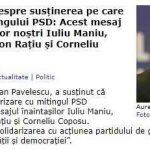Hot News: Liderul PNȚCD despre susținerea pe care a acordat-o mitingului PSD: Acest mesaj este al înaintașilor noștri Iuliu Maniu, Ion Mihalache, Ion Rațiu și Corneliu Coposu