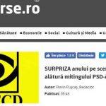 Stiri pe surse: SURPRIZA anului pe scena politică: PNŢCD se alătură mitingului PSD-ALDE
