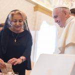 Viorica Dancilă față în față cu Papa Francisc